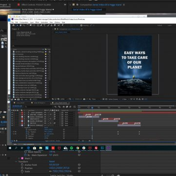 print screen of Adobe After Effects