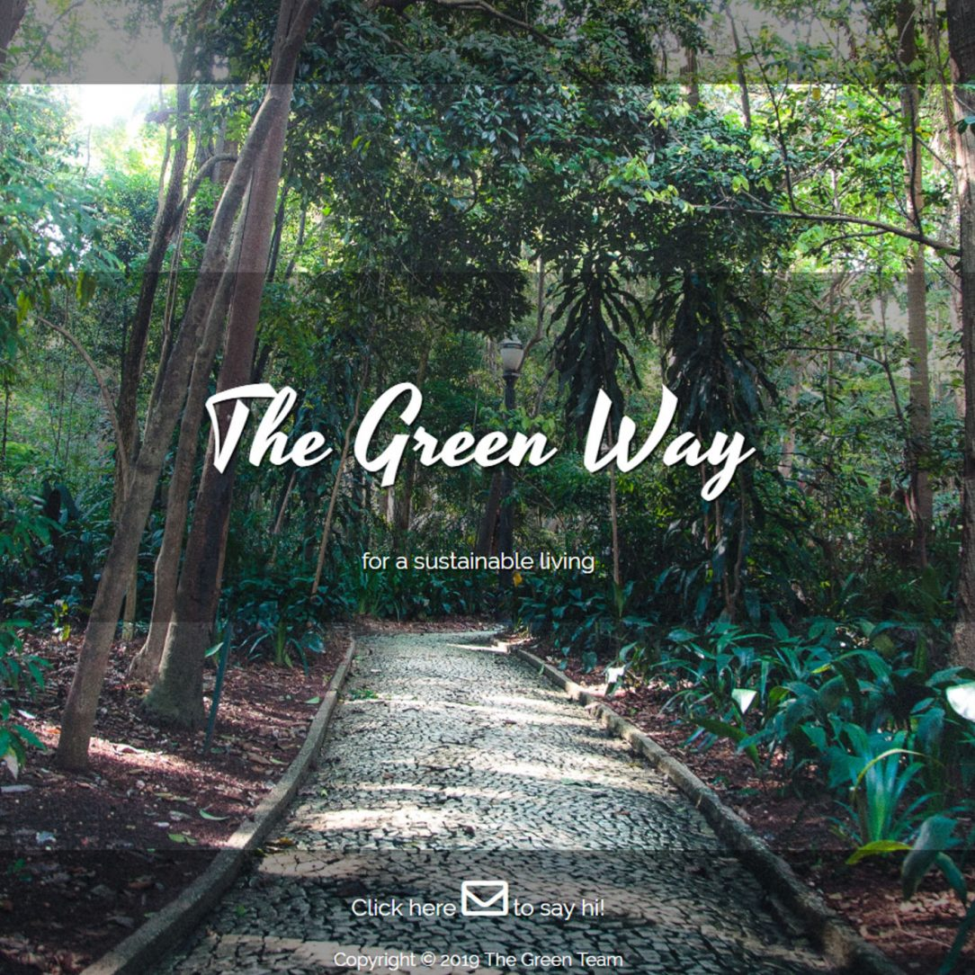 the green way web site start page