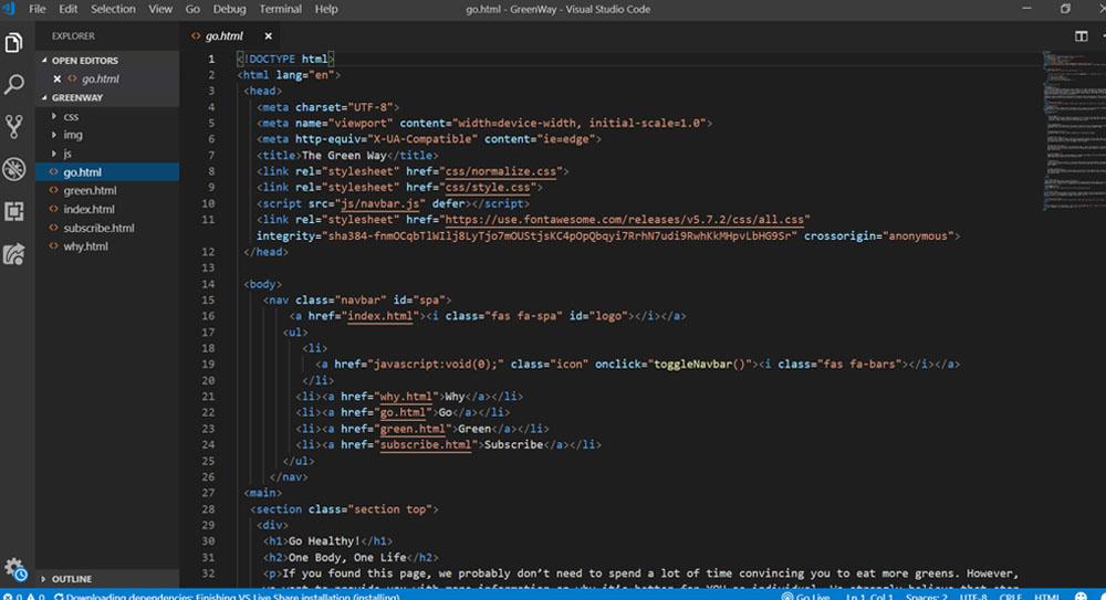 print screen of a html coding
